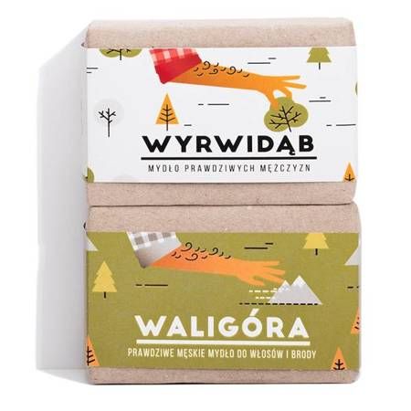 MĘŻNY DUET: Zestaw mydeł Wyrwidąb + Waligóra