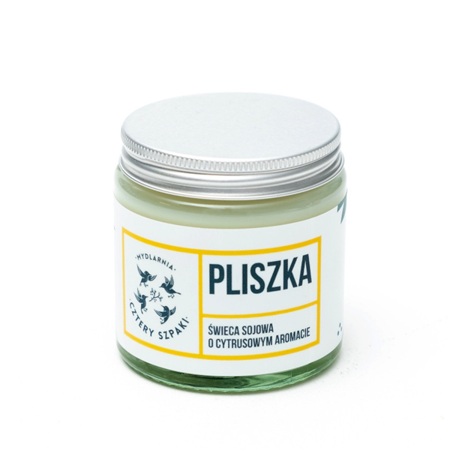 Naturalna świeca sojowa - cytrynowa - PLISZKA