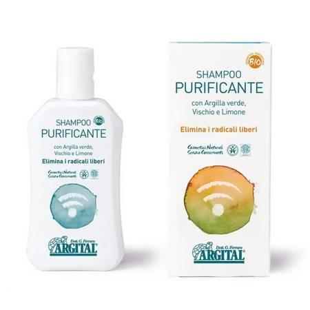 Oczyszczający szampon antyoksydacyjny z zieloną glinką, jemiołą i cytryną