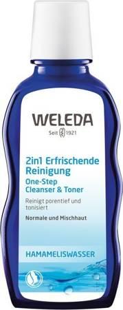 Odświeżająca emulsja oczyszczająca i tonik 2w1 z oczarem